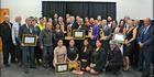 All the winners from Friday's Te Hiringa Tai Tokerau Maori Business Awards ceremony with Minister of Maori Development Te Ururoa Flavell. Photo / C. Horsford Photography
