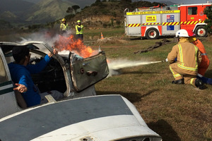 A wildfire was just one of the emergency scenarios facing a group of youngsters from  Hokianga on Saturday.