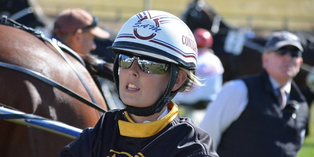 Samantha Ottley is a serious shot at the first group one of her driving career. Photo / ODT