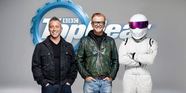 Loading Matt LeBlanc, Chris Evans and Stig in the new Top Gear show.