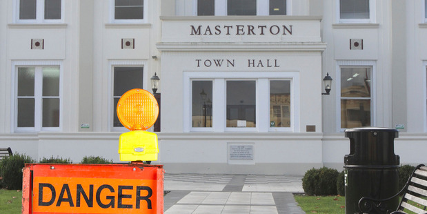 Masterton Town Hall has been declared an earthquake risk (altered image). PHOTO/FILE