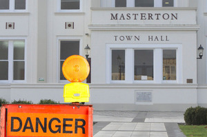 Masterton Town Hall has been declared an earthquake risk (altered image).