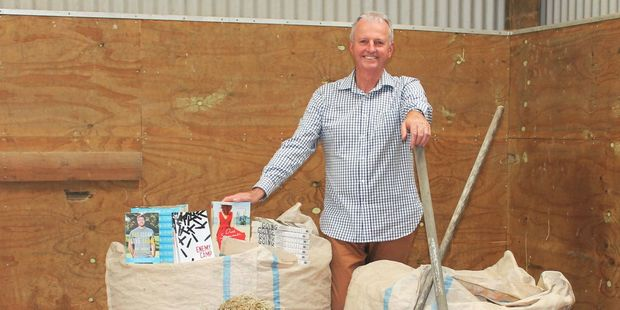 David Hedley, whose business Hedley's Bookshop is the driving force behind Yarns in Barns, sets the scene for this year's festival. PHOTO/SUPPLIED