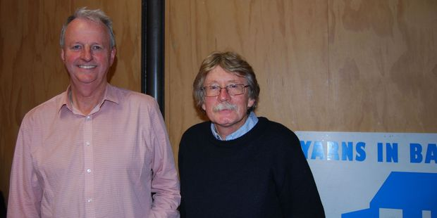Yarns in Barns organisers David Hedley and Steve Trotman from Hedley's Bookshop. PHOTO/SUPPLIED