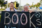 BOOKS AND MORE: Hope Sexton, with fellow Featherston Booktown volunteer Patsy Wools, hopes to see Booktown in Featherston grow and be as successful as the Clunes event.