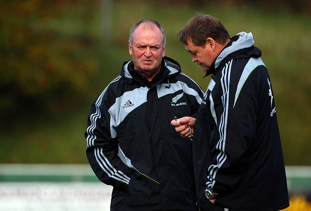 Graham Henry and Steve Hansen in 2009. Photo / Getty Images