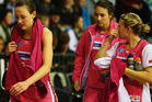 Rebecca Bulley of the Thunderbirds walks off after losing the Minor Semi Final ANZ Championship match between the Magic and the Thunderbirds. Photo / Getty Images.