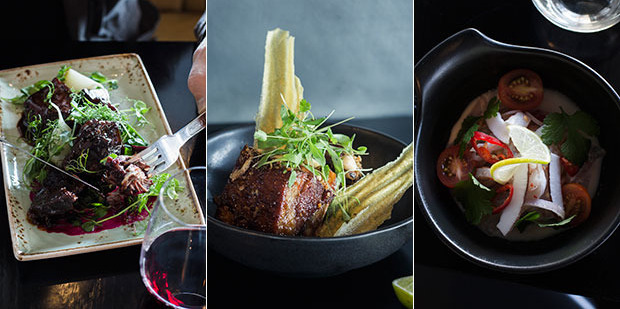In Bite this week: Beef cheeks, sweet and sour lamb ribs and trevally kokoda. Photo / Bite magazine