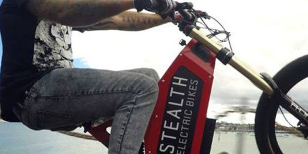 Two Stealth electric bikes were stolen from his South Auckland home on Thursday night. Photo: Supplied