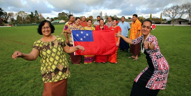 Loading CELEBRATION: Pamata Ah Chong (left) and Nancy Pualemamae Wulf, along with other members of Marton's Samoan community, are preparing for Samoan Independence Day.PHOTO/STUART MUNRO