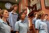 O Seinneran, a choir from Taradale High School, in rehearsal ahead of this week's festival. Photo / Duncan Brown