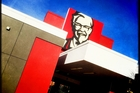 KFC operator Restaurant Brands was up 0.2 per cent to $5.56. Picture / Michael Craig