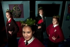 Some of John Paul College's choreography team (from left) Sharvon Mortimer, 16, Lexis Ferguson-Maxwell, 16, Maia Eason, 16, Allie Morris, 16. Photo / Ben Fraser