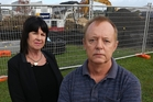 Dianne Cartmer and Chris Martin oppose the building of a playground on their housing estate. Photo / Doug Sherring