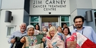 The women of the Wellsford Marsden Masonic Lodge have made quilts for the Jim Carney Cancer Centre. Former patient Janet Johnston (centre front)  describes the care there as wonderful. Photo / John Stone