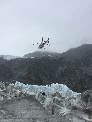 Wreckage is removed from Fox Glacier.