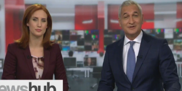 Loading Samantha Hayes makes her debut on Newshub at 6pm next to Mike McRoberts. Photo/TV3