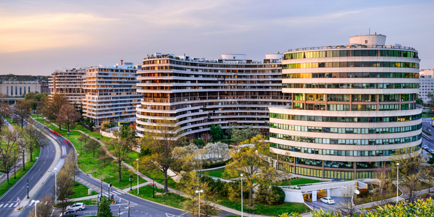The hotel is located in the now infamous Watergate Complex in Washington DC. Photo / iStock