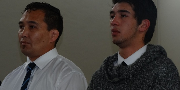Pita William Wilson (left) and Mark Junior Taylor in court today. Photo / Otago Daily Times
