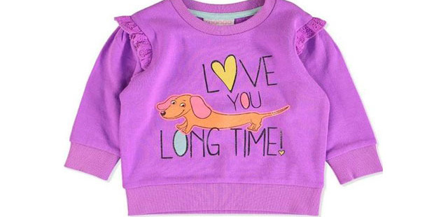This jumper for toddlers sparked outrage from shoppers. Photo / best&less.com.au