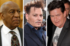 Famous men accused of domestic or sexual violence. Photos / Getty Images