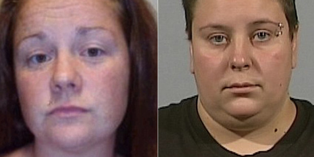 Rachel Fee (left) and Nyomi Fee (right) also abused two other boys, tying one inside a makeshift cage. Photo / Supplied