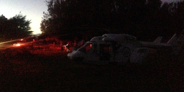 The teen was airlifted by the Palmerston North Rescue Helicopter to Hutt Hospital. Photo / Supplied