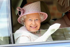 The Queen attending a recent parade to mark 300 years of the Royal Artillery. Photo / Getty