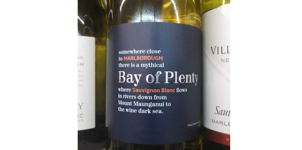 Wine copywriter a bit loose with geographic facts. Spotted in the UK. Photo / Supplied