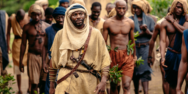 "Silla Ba Dibba (Derek Luke) in The History Channel remake of ""Roots"" MUST CREDIT: Casey Crafford, History Channel"