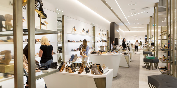 Supplied photos showing the interior of one of David Jones' Melbourne stores, the same style of interior that will be in the new Wellington store.