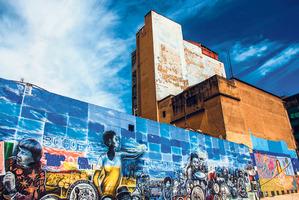 Street art in the centre of Bogota.
