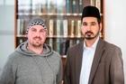 Recent convert to Islam, Lee Eastham (left) and Iman Shafiq ur Rehman, Baitul Muqeet Mosque, Auckland. Photo /  Michael Craig