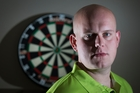 Michael van Gerwen says lots of practise is the secret to preparing for the worlds. Photo / Nick Reed
