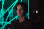 Actress Felicity Jones stars in the upcoming Star Wars spin-off film, Rogue One.