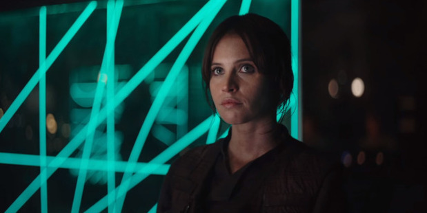 Loading Actress Felicity Jones stars in the upcoming Star Wars spin-off film, Rogue One.