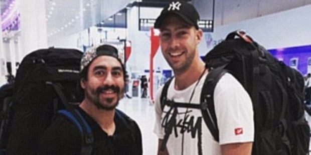 Rye Hunt (left) went missing in Rio after reportedly taking NBOMe believing it was MDMA. Photo / Supplied