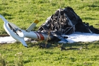 An investigation continues into what caused this chopper to crash and burn.
