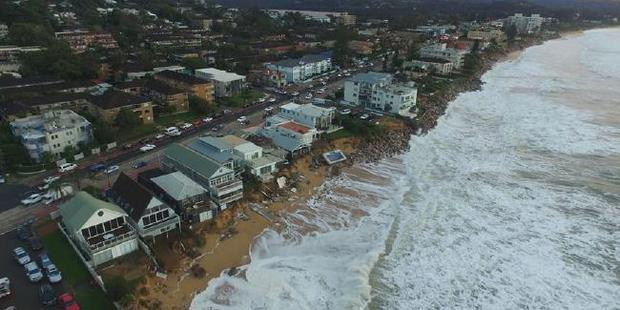 Collaroy waterfront damage. Photo / UNSW Water Research Laboratory