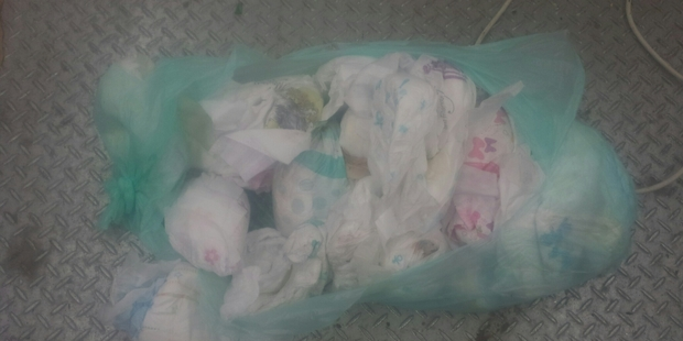 Dirty nappies often turn up in the recycling bins meaning whole loads of recycling end up contaminated and taken to the landfill. Human waste also causes a health hazard to those handling them.