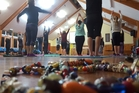There was a good turnout for Jenny Chapman's yoga fundraising event for child cancer on Sunday.