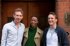 Harry Potter and the Cursed Child features (from left) Paul Thornley (Ron), Noma Dumezweni (Hermione) and Jamie Parker (Harry).
