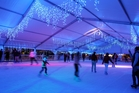 Exclusive use of the Aotea Square Ice Rink on Thursday night is being auctioned for charity. Photo / Michael Bradley