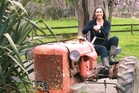 THRILLED: Sophie Siers got inspiration for her children's story from a farmyard tractor.PHOTOS/SUPPLIED