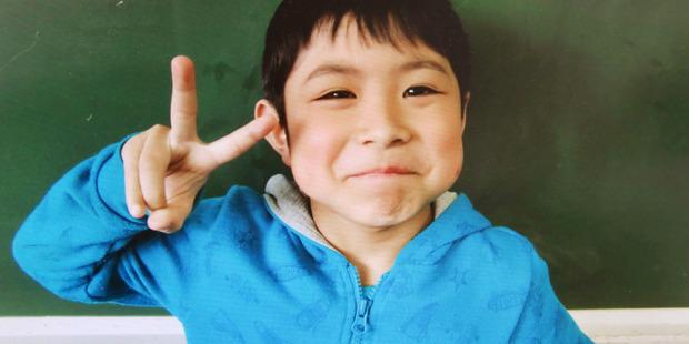 Seven-year-old Yamato Tanooka. Photo / AP