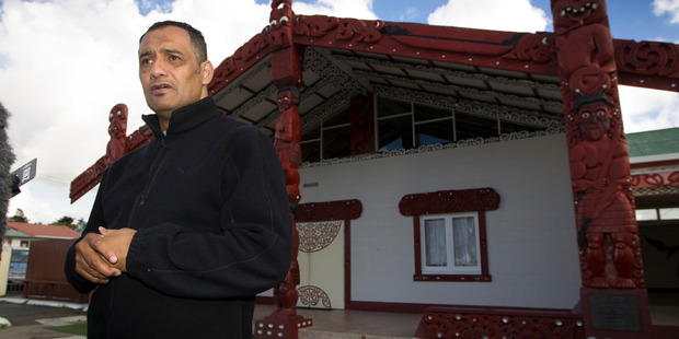 Te Puea Marae chairman Hurimoana Dennis fronts media on the current housing crisis and how they haven taken in more than 50 people at the marae. Photo / Nick Reed