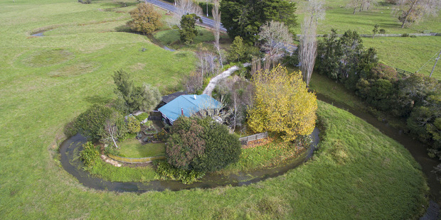 "A moat or private river? Locals apparently refer to this Clevedon property as ""the island of Capri""."