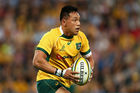 Christian Leali'ifano playing for the Wallabies in 2014. Photo / Getty Images