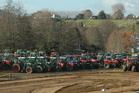 A splendid field of tractors at Fieldays 2015.