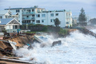Houses on Sydney northern beaches have been swept into the sea. Photo / Damian Shaw/ Daily Mail Australia